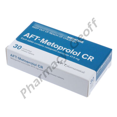 AFT-Metoprolol CR (Metoprolol Succinate) - 47.5mg (30 Tablets)