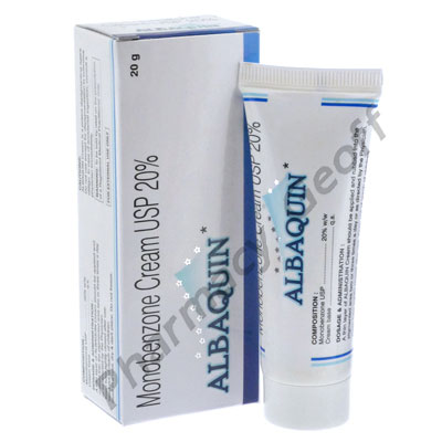Albaquin Cream (Monobenzone USP) - 20% (20g)