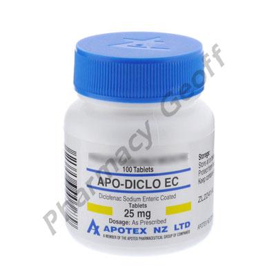 Apo-Diclo EC (Diclofenac Sodium) - 25mg (100 Tablets)