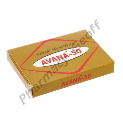 Avana-50 (Avanafil) - 50mg (4 Tablets)
