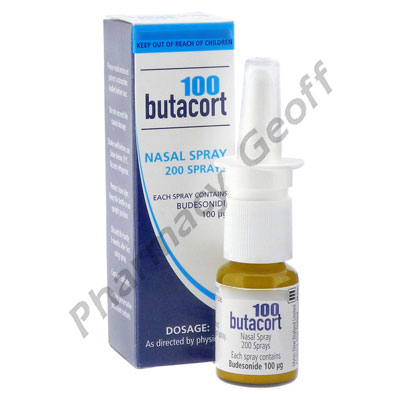 Butacort 100 Nasal Spray (Budesonide) -100mcg (10mL Bottle