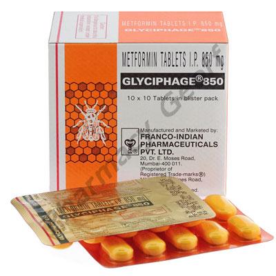 Glyciphage-850 (Metformin) - 850mg (10 Tablets