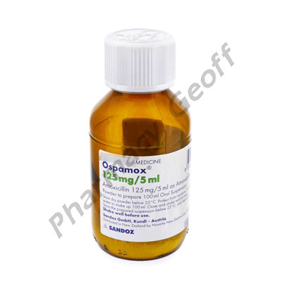 Ospamox (Amoxicillin) - 125mg/5mL (100mL)