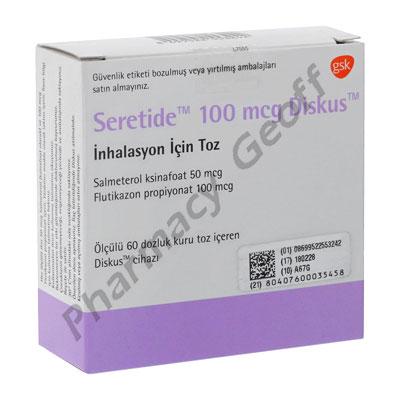 Seretide Diskus Fluticasone Propionate Salmeterol Xinafoate 100mcg 50mcg 60 Doses Asthma Pharmacy Geoff