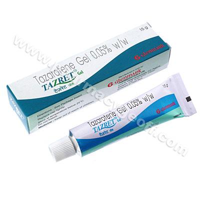 Tazret Gel (Tazarotene) - 0.05% (15g tube) :: Skincare