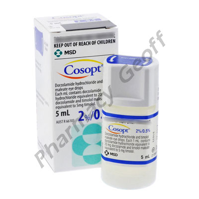 Cosopt (Timolol Maleate/Dorzolamide Hydrochloride) - 0.5%/2% (5mL Bottle)