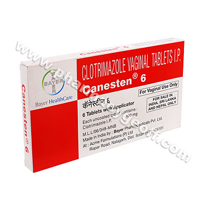 Canesten Vaginal (Clotrimazole) - 100mg (6 Tablets with Applicator)