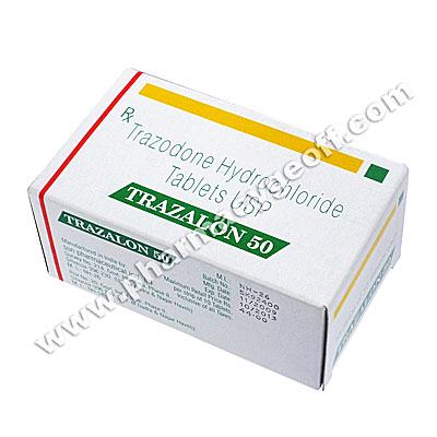 Trazalon (Trazodone Hydrochloride) - 50mg (10 Tablets)