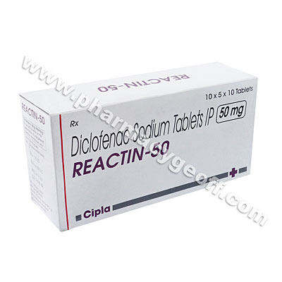Reactin-50 SR (Diclofenac Sodium) - 50mg (10 Tablets)