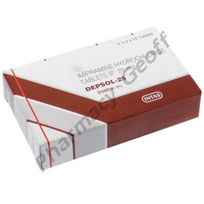 Imipramine Hcl 25mg Tablets