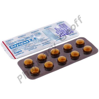 Oxyspas (Oxybutynin) 2.5mg 10s