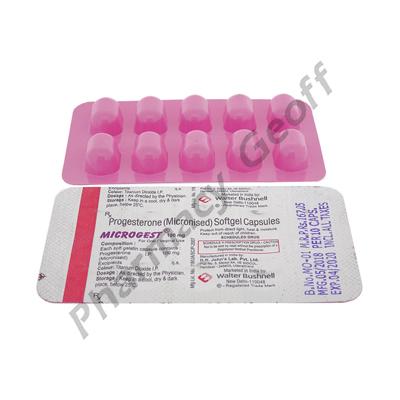 progesterone 100 mg capsule