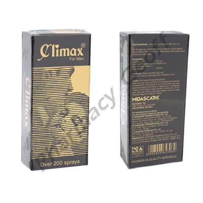 Climax Spray (Lignocaine) - 1.2g  (12g)