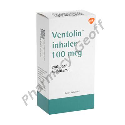 Ventolin Inhaler (Salbutamol) - 100mcg (200 Doses)(Turkey)